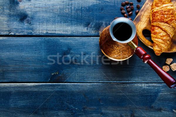 Breakfast set background Stock photo © YuliyaGontar