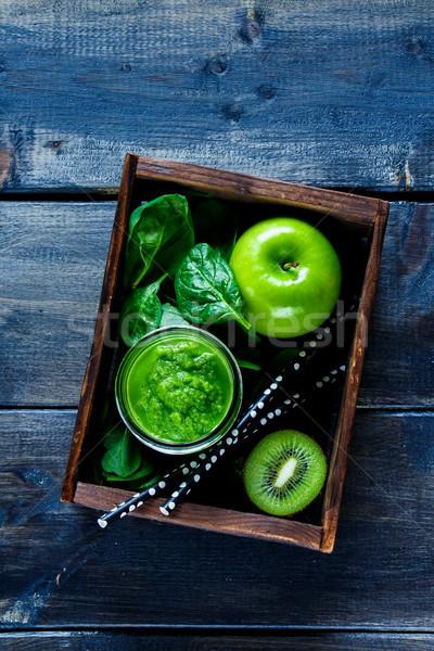 Green fresh smoothie Stock photo © YuliyaGontar