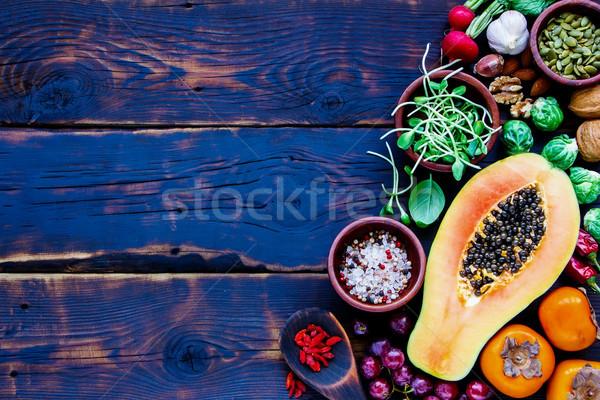 üst görmek organik sebze meyve tohumları Stok fotoğraf © YuliyaGontar
