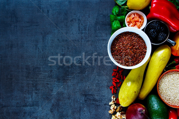Stok fotoğraf: Temizlemek · yeme · diyet · renkli · sebze · meyve