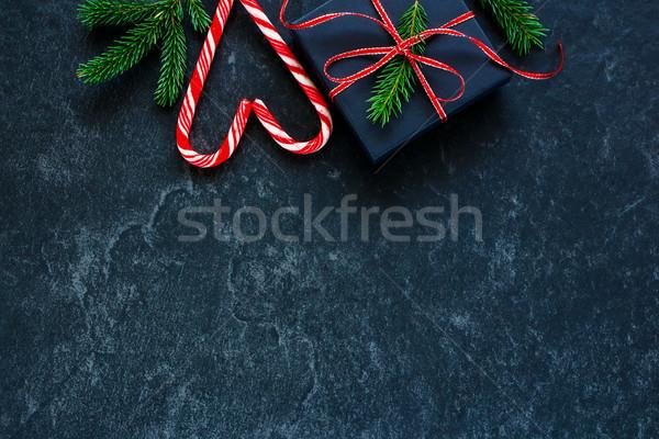 クリスマス ギフト 現在 ボックス 紙 キャンディ ストックフォト © YuliyaGontar