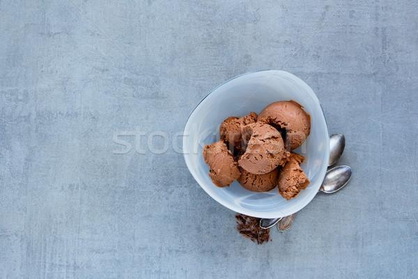 チョコレート アイスクリーム ボウル 務め ストックフォト © YuliyaGontar