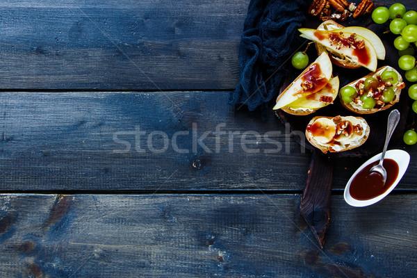 Crostini with fruits Stock photo © YuliyaGontar