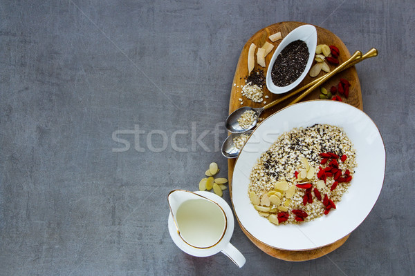 Organic quinoa flakes Stock photo © YuliyaGontar