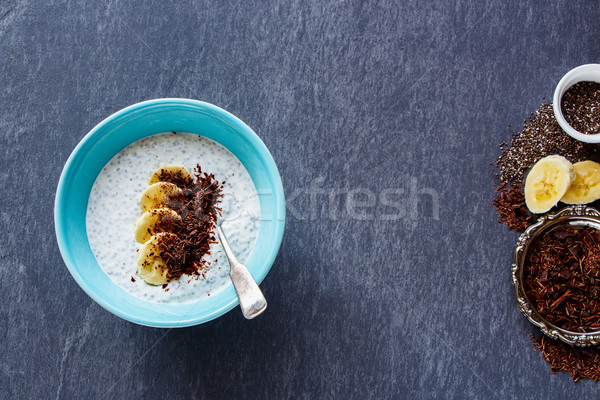 Chia seed pudding Stock photo © YuliyaGontar