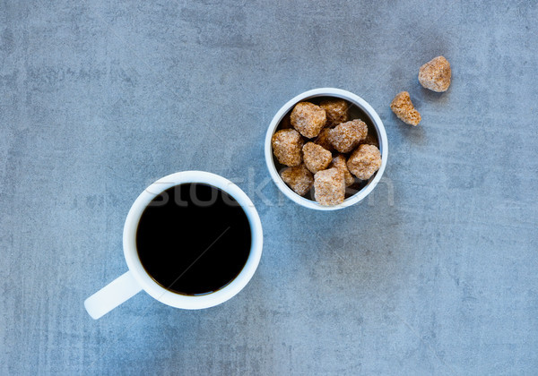 Tasse de café cassonade tasse café gris vintage Photo stock © YuliyaGontar