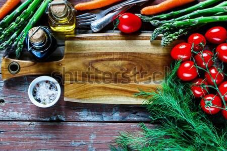 сырой овощей различный фермы старые Сток-фото © YuliyaGontar