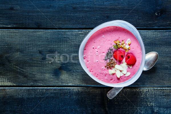 Smoothie breakfast bowl Stock photo © YuliyaGontar