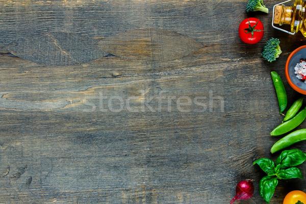 Assortment raw ingredients Stock photo © YuliyaGontar