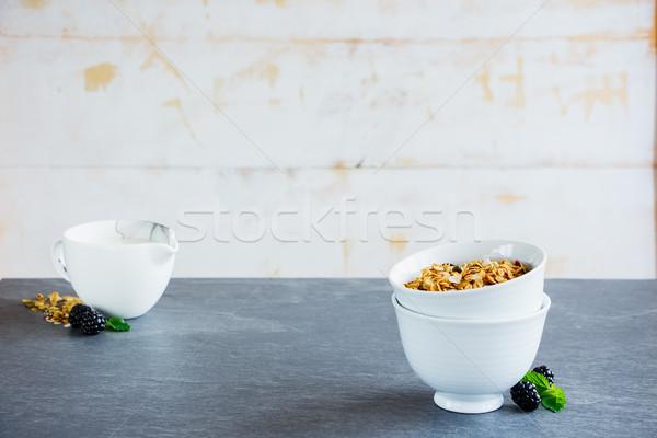 Breakfast set with granola Stock photo © YuliyaGontar