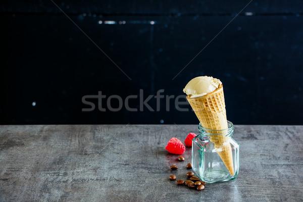 Coffee ice cream Stock photo © YuliyaGontar