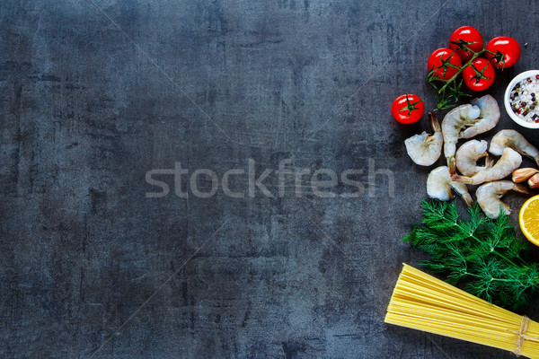 Pasta with seafood Stock photo © YuliyaGontar