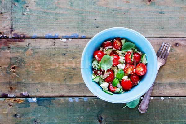 Salaterki warzyw zdrowych świeże lata Zdjęcia stock © YuliyaGontar