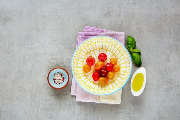 Malzemeler domates salata taze renkli domates Stok fotoğraf © YuliyaGontar