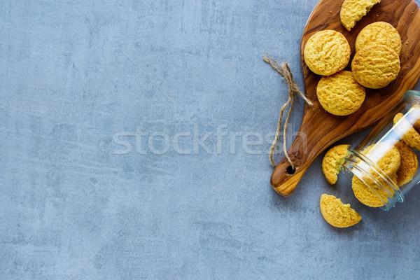 Eigengemaakt kokosnoot cookies heerlijk grijs Stockfoto © YuliyaGontar