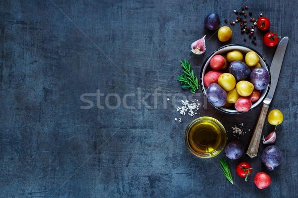 Stok fotoğraf: Taze · organik · sebze · malzemeler · patates · domates
