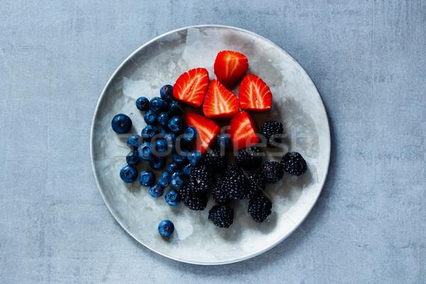 Mix of fresh berries Stock photo © YuliyaGontar