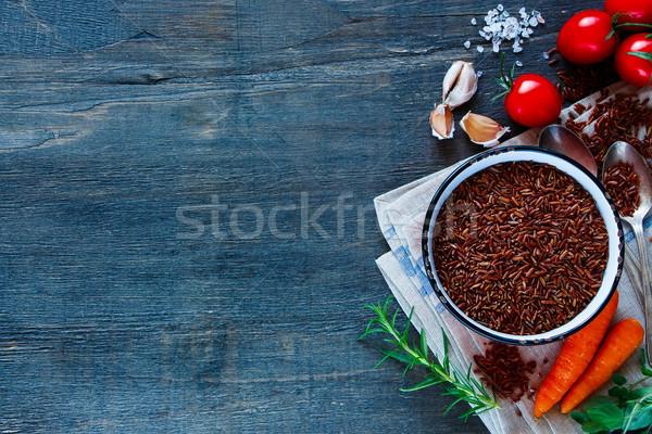 Kırmızı pirinç sebze taze sebze malzemeler Stok fotoğraf © YuliyaGontar