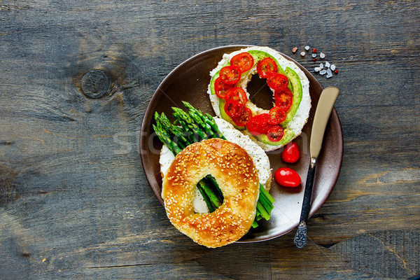 Healthy veggie breakfast Stock photo © YuliyaGontar