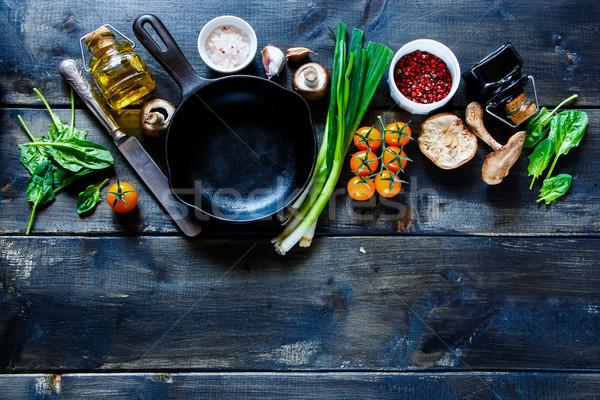 свежие органический овощей вегетарианский Ингредиенты Сток-фото © YuliyaGontar