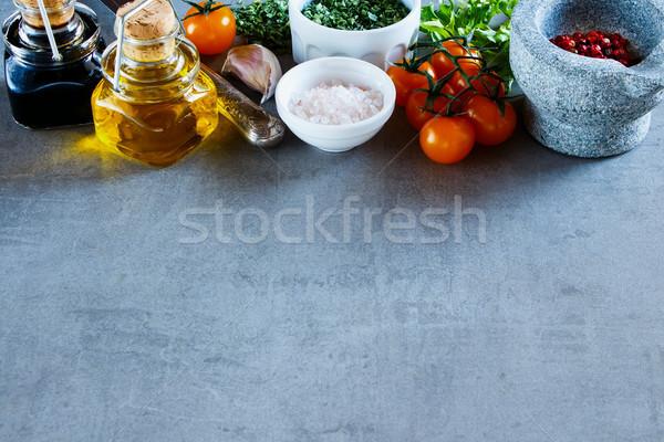 ストックフォト: カラフル · スパイス · 野菜 · 健康 · 料理