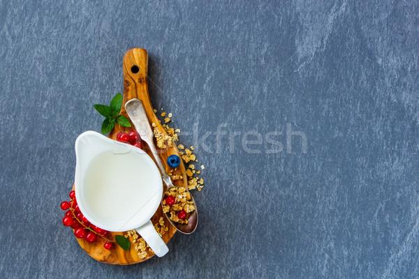 Breakfast with granola Stock photo © YuliyaGontar