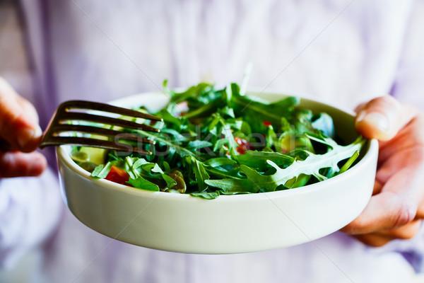Primavera vegetal salada alimentação abacate Foto stock © YuliyaGontar