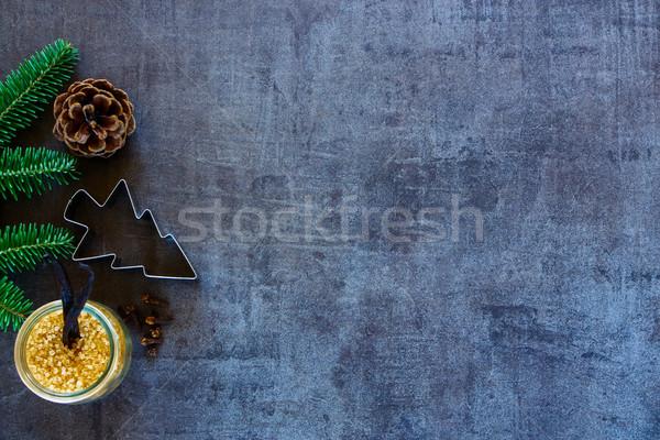 Comida de navidad Navidad año nuevo alimentos pino cono Foto stock © YuliyaGontar