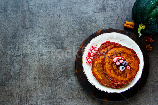 Spiced pumpkin pancake Stock photo © YuliyaGontar