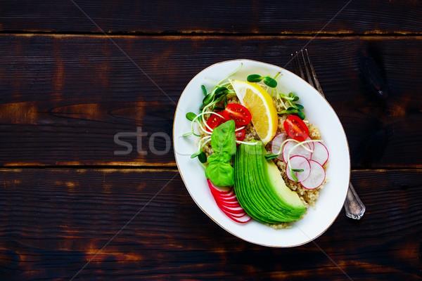 おいしい サラダボウル 自家製 健康 サラダ トマト ストックフォト © YuliyaGontar