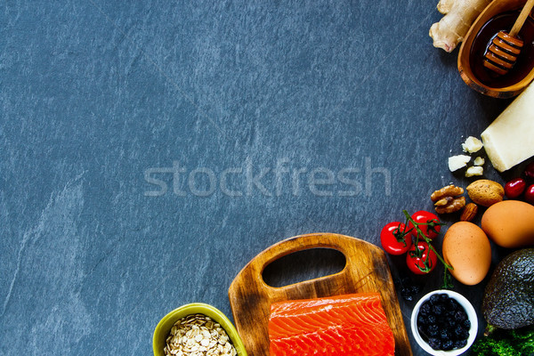 自然食品 健康 新鮮な 生 材料 鮭 ストックフォト © YuliyaGontar