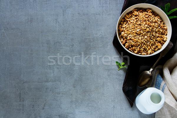 Sani colazione ingredienti top view preparazione Foto d'archivio © YuliyaGontar
