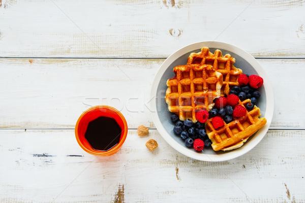 Kahvaltı ayarlamak sıcak ev yapımı geleneksel taze Stok fotoğraf © YuliyaGontar