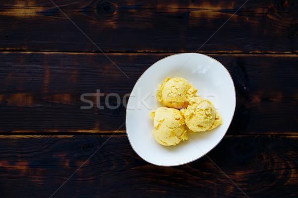 Mango ice cream Stock photo © YuliyaGontar
