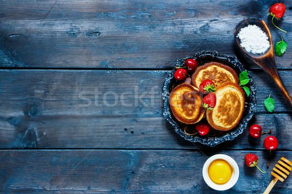 Ingredientes panquecas caseiro Foto stock © YuliyaGontar