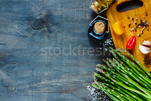 приготовления Ингредиенты свежие спаржа Vintage Сток-фото © YuliyaGontar