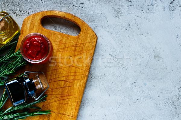Cozinhar velho ervas Foto stock © YuliyaGontar
