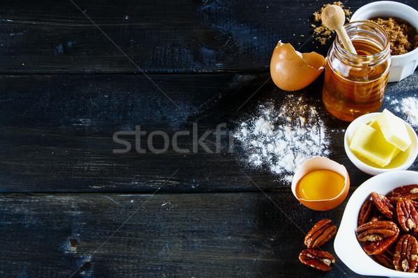 Ingredients for baking cake Stock photo © YuliyaGontar