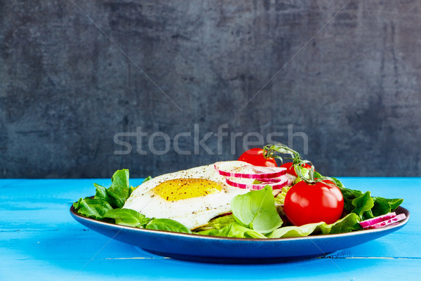 Egg and vegetables Stock photo © YuliyaGontar