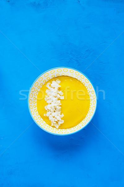 黄色 マンゴー スムージー おいしい ココナッツ チップ ストックフォト © YuliyaGontar
