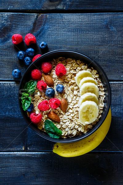 Healthy breakfast composition Stock photo © YuliyaGontar