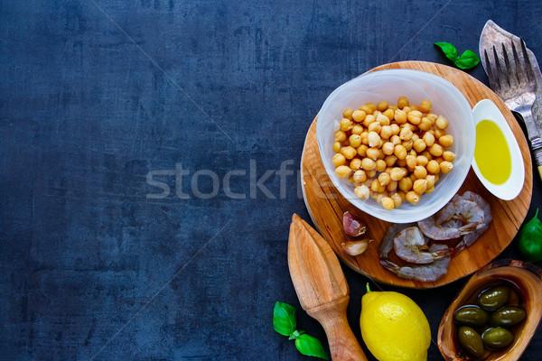 Insalata ingredienti sani buio Foto d'archivio © YuliyaGontar