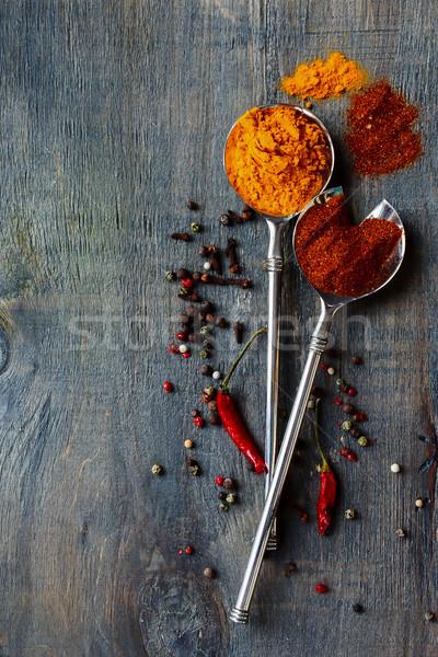 Bright spices Stock photo © YuliyaGontar