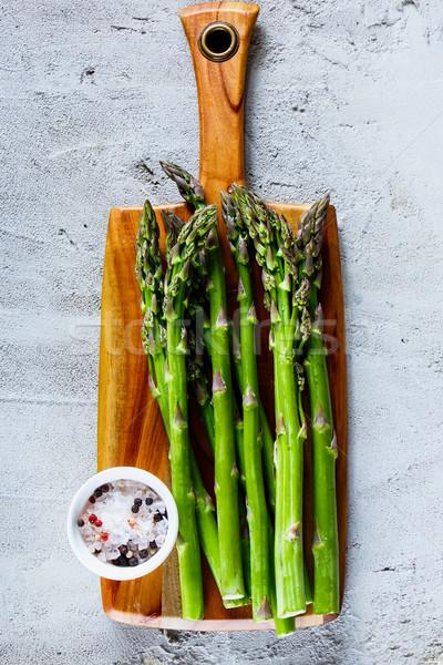 Zielone świeże szparagów organiczny przyprawy Zdjęcia stock © YuliyaGontar