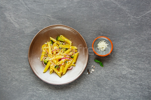 Pasta with vegetables Stock photo © YuliyaGontar