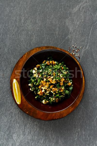 Kale and quinoa salad Stock photo © YuliyaGontar