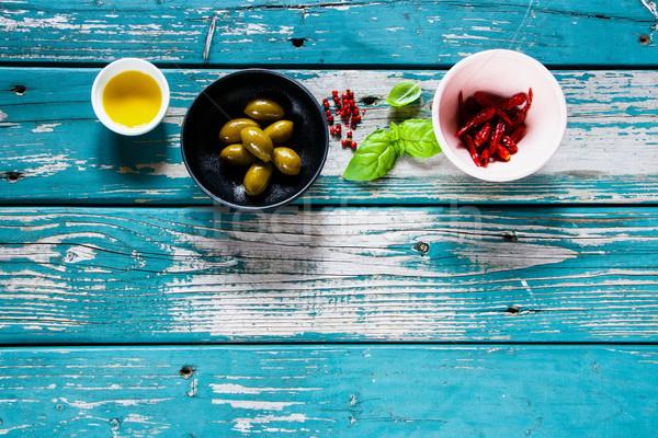 Fresh delicious ingredients Stock photo © YuliyaGontar