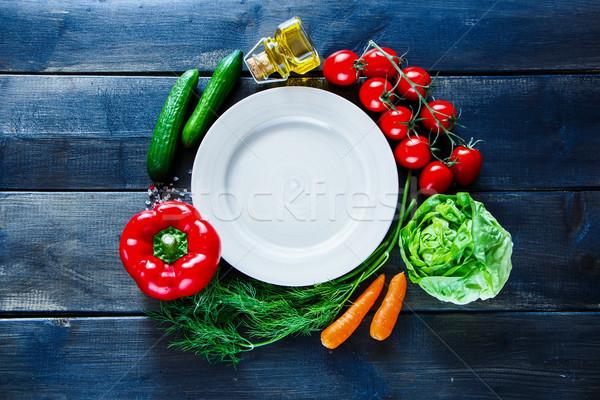 Veganistisch dieet koken top verse groenten Stockfoto © YuliyaGontar