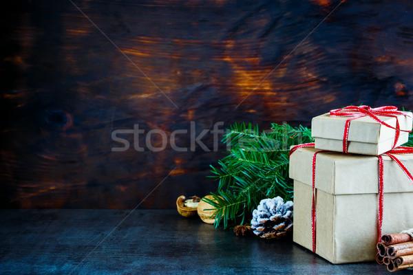 Рождества шкатулке праздник подарок Сток-фото © YuliyaGontar
