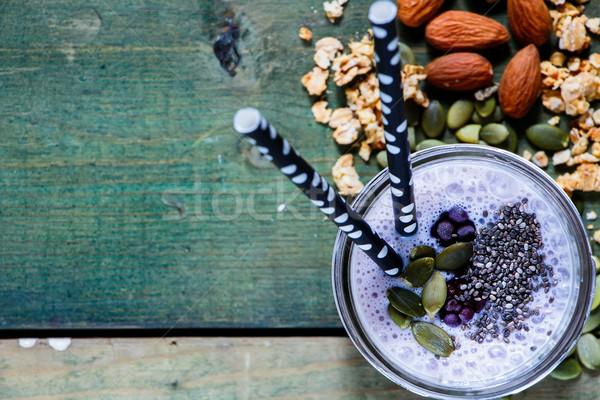 Healthy berry smoothie Stock photo © YuliyaGontar